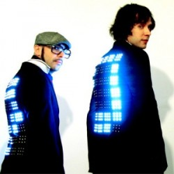 OK Go in LED suit jackets