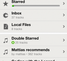 Spotify iPhone app's Playlists screen