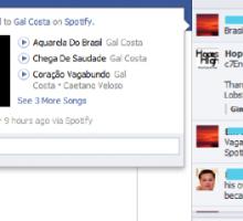 Spotify on Facebook in ticker