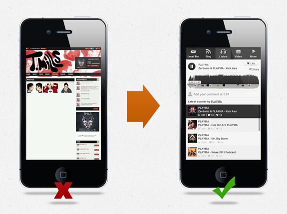 PLAYMA Mobile Website
